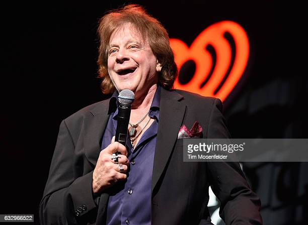 Musician Eddie Money performs on stage during the iHeart80s Party 2017 at SAP Center on January 28 2017 in San Jose California