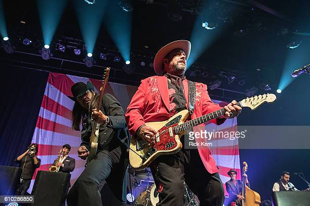 Musician Eddie Perez and singersongwriter Raul Malo of The Mavericks perform in concert at ACL Live on September 24 2016 in Austin Texas