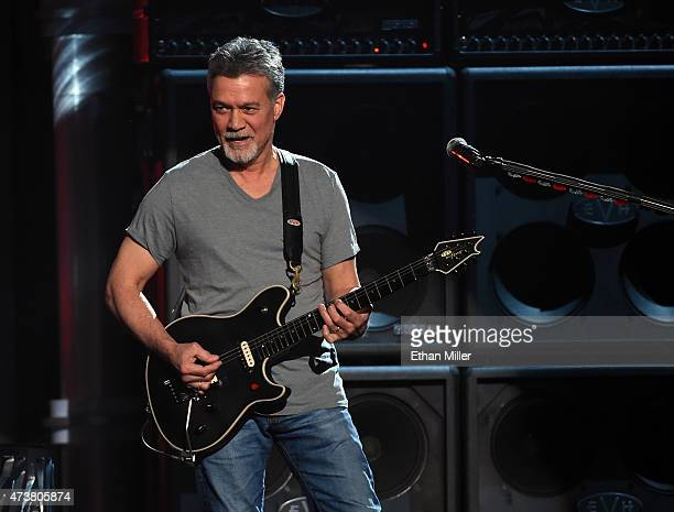 Musician Eddie Van Halen of Van Halen performs onstage during the 2015 Billboard Music Awards at MGM Grand Garden Arena on May 17, 2015 in Las Vegas,...