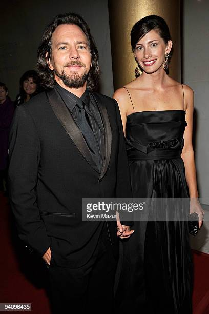 Musician Eddie Vedder and guest attend the 32nd Kennedy Center Honors at Kennedy Center Hall of States on December 6 2009 in Washington DC