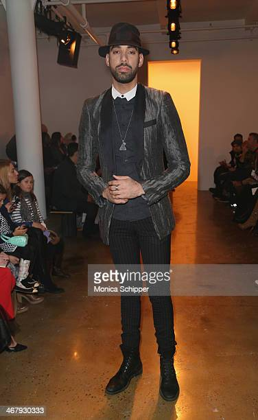 Musician EliaCiM attends Alexandre Herchcovitch fashion show during MADE Fashion Week Fall 2014 at Milk Studios on February 8 2014 in New York City