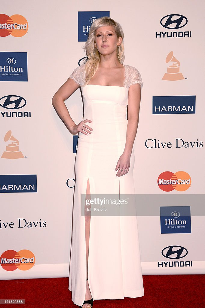 Musician Ellie Goulding arrives at Clive Davis and The Recording Academy's 2013 GRAMMY Salute to Industry Icons Gala held at The Beverly Hilton Hotel on February 9, 2013 in Beverly Hills, California.