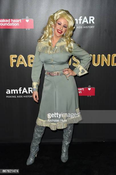 Musician Ellie Goulding attends the 2017 amfAR The Naked Heart Foundation Fabulous Fund Fair at Skylight Clarkson Sq on October 28 2017 in New York...