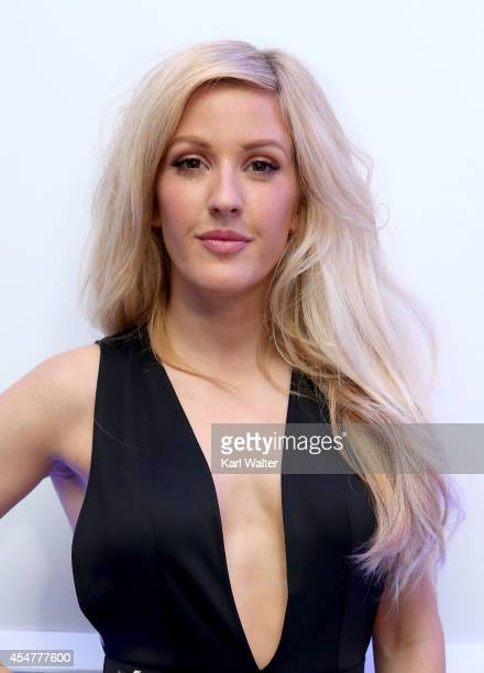 Musician Ellie Goulding poses backstage at her performance presented by RDIO TIFF during the 2014 Toronto International Film Festival at RDIO House...
