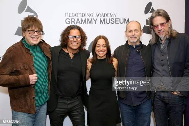 Musician Elliot Easton executive producer Stevie Salas executive producer Christina Fon musician Wayne Kramer and GRAMMY Museum Executive Director...