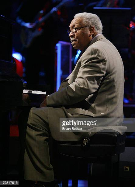 Musician Ellis Marsalis performs at the 57th NBA AllStar Game part of 2008 NBA AllStar Weekend at the New Orleans Arena on February 17 2008 in New...