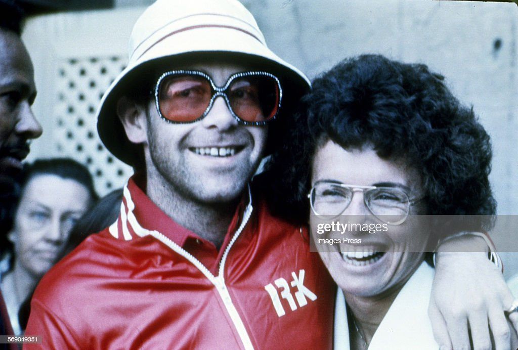 Elton John and Billie Jean King : News Photo