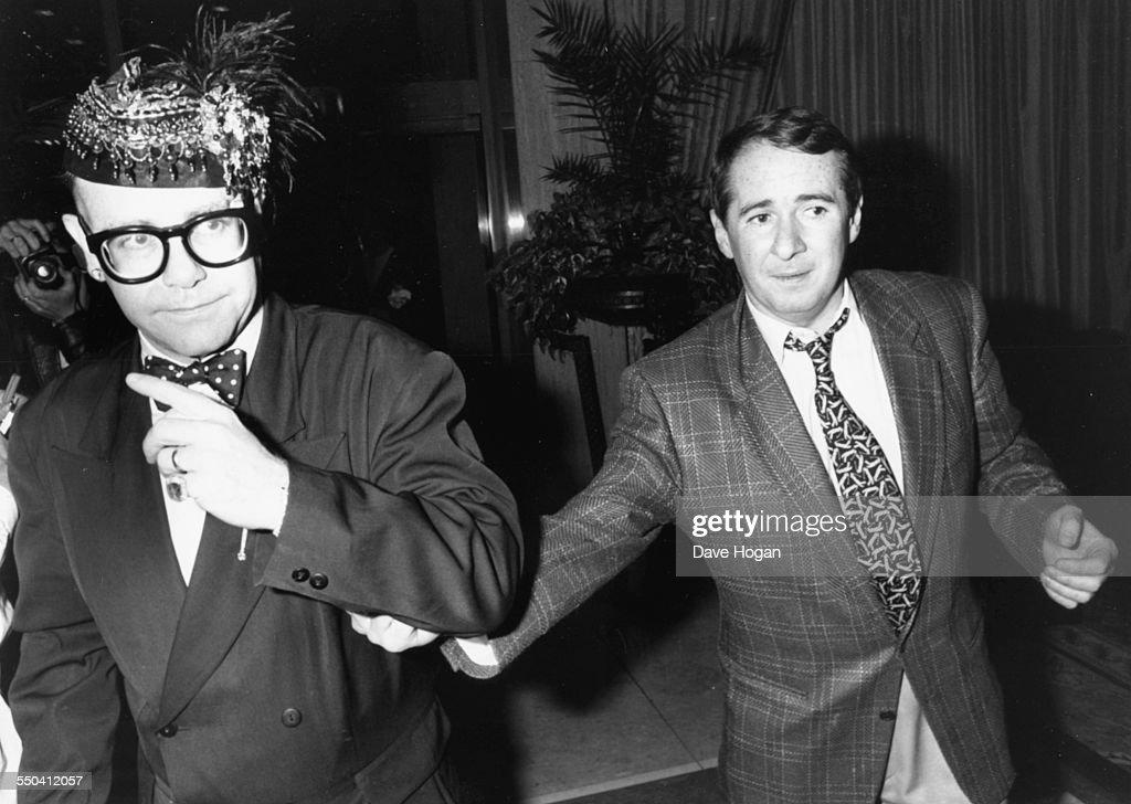 Elton John And John Reid : News Photo