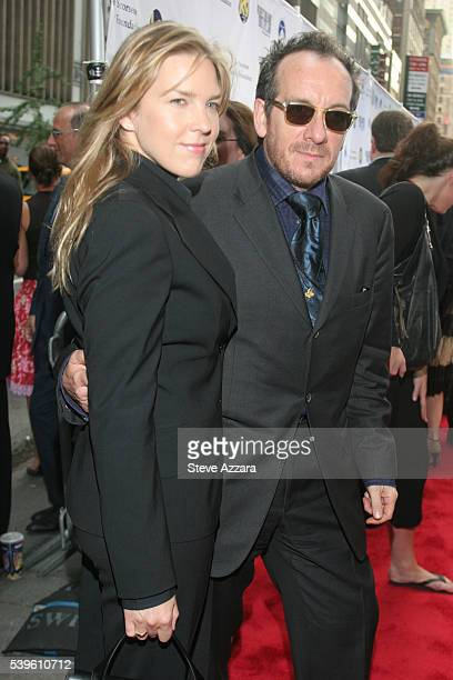 Musician Elvis Costello and Diana Krall at the premiere of 'No Direction Home Bob Dylan'