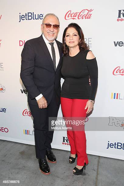 Musician Emilio Estefan and singersongwriter Gloria Estefan attend the 4th Annual People en Espanol Festival at Jacob Javitz Center on October 18...
