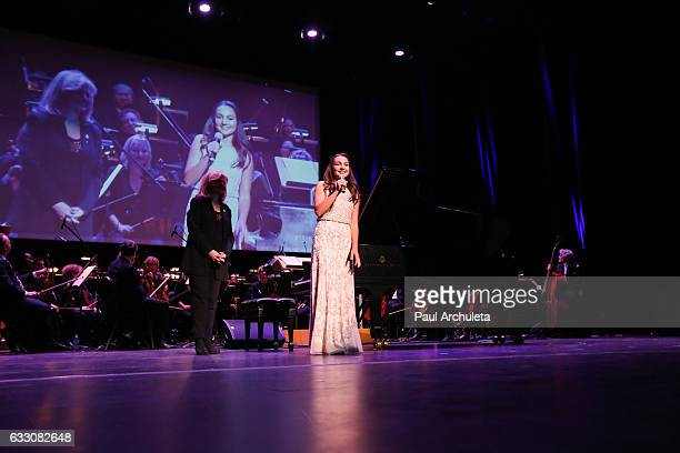 Musician Emily Bear performs at the Save A Child's Heart's Symphony Of The Heart charity event at The Valley Performing Arts Center on January 29...