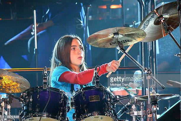 Musician Emily Marie Estefan performs onstage during the 2008 Latin Recording Academy Person of the Year awards tribute to Gloria Estefan held at the...