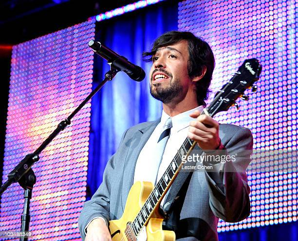 Musician Emmanuel Meme del Real Diaz of the band Cafe Tacuba performs onstage at the 2008 BMI Latin Awards held at the Beverly Wilshire Hotel on June...