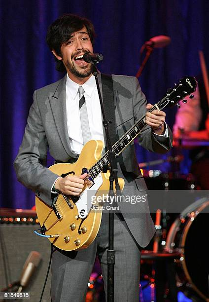 Musician Emmanuel 'Meme' del Real Diaz of the band Cafe Tacuba performs onstage at the 2008 BMI Latin Awards held at the Beverly Wilshire Hotel on...