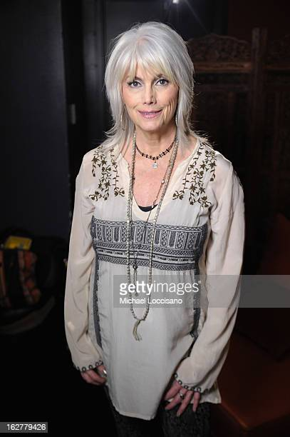 Musician Emmylou Harris attends the All For the Hall New York concert benefiting the Country Music Hall of Fame at Best Buy Theater on February 26...