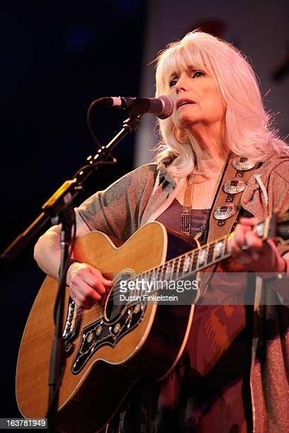 Musician Emmylou Harris performs onstage at Radio Day Stage during the 2013 SXSW Music Film Interactive Festival at Austin Convention Center on March...