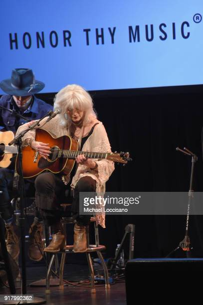 Musician Emmylou Harris performs onstage at the Country Music Hall of Fame and Museum's 'All for the Hall' Benefit on February 12 2018 in New York...