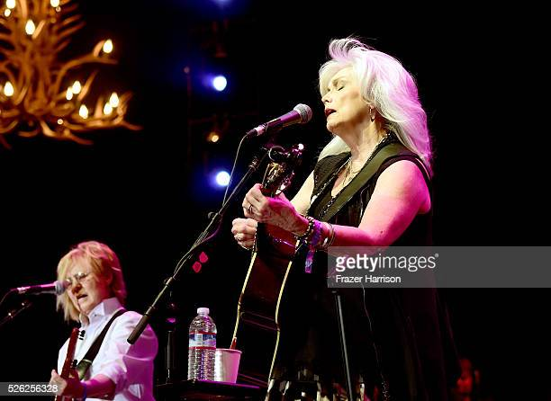 Musician Emmylou Harris performs onstage during 2016 Stagecoach California's Country Music Festival at Empire Polo Club on April 29, 2016 in Indio,...