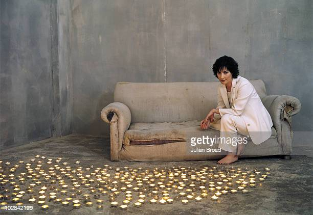 Musician Enya poses for a portrait shoot on June 11 2002 in London