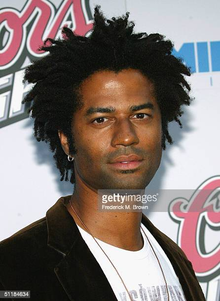 """Musician Eric Benet attends the film premiere of """"Hero"""" at the Arclight Theater on August 17, 2004 in Hollywood, California. The film """"Hero"""" opens..."""
