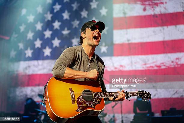 Musician Eric Church performs at Nokia Theatre LA Live on November 4 2012 in Los Angeles California