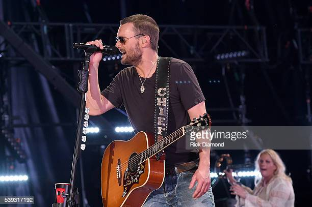 Musician Eric Church performs onstage during 2016 CMA Festival Day 2 at Nissan Stadium on June 10 2016 in Nashville Tennessee
