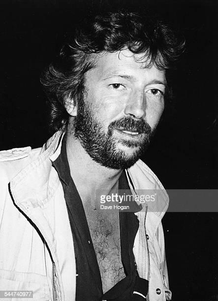 Musician Eric Clapton arriving at the Secret Policeman's Ball circa 1985