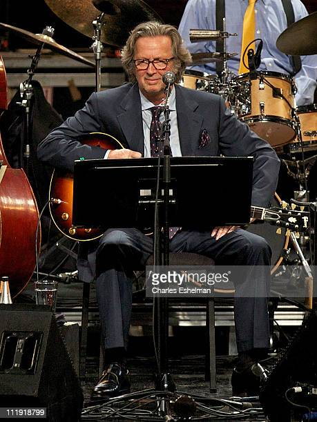 Musician Eric Clapton performs at Jazz at Lincoln Center on April 8 2011 in New York City