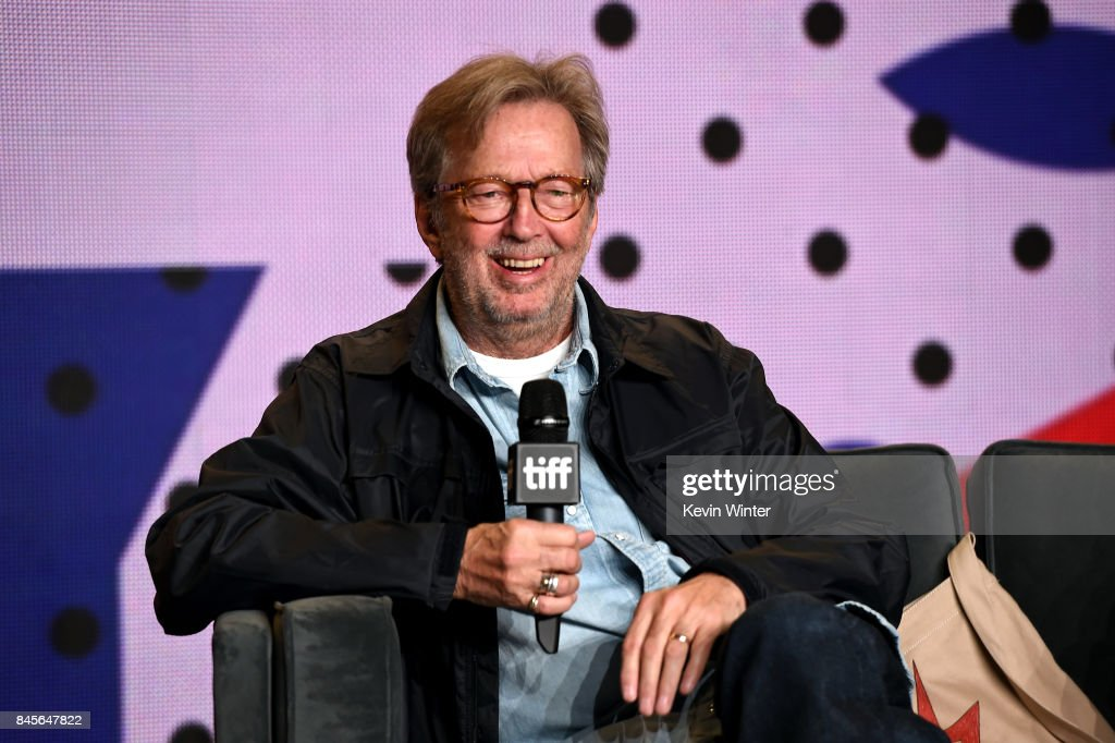 Musician Eric Clapton speaks onstage at 'Eric Clapton: Life In 12 Bars' press conference during 2017 Toronto International Film Festival at TIFF Bell Lightbox on September 11, 2017 in Toronto, Canada.