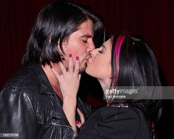 Musician Eric Roberts and Adult Film Star Joanna Angel attend the Gym Class Heroes album release party for The Papercut Chronicles II at Angels Kings...