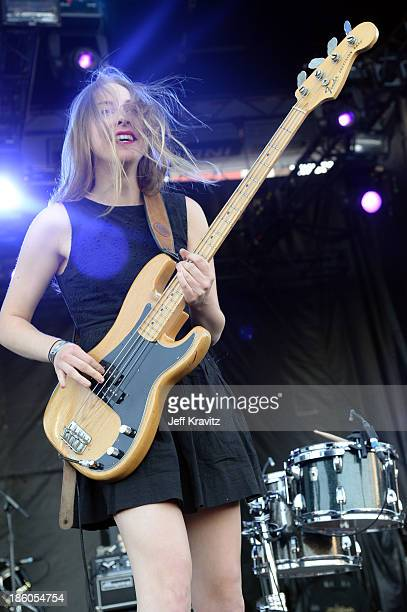 Musician Este Haim of Haim performs onstage during day 2 of the Life is Beautiful festival on October 27 2013 in Las Vegas Nevada