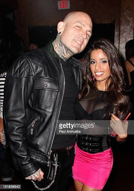 Musician Evan Seinfeld and Actress Lupe Fuentes attend Etty Farrell's Rock 'N' Roll Birthday bash at 1616 Restaurant Club on December 9 2010 in Los...