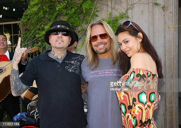 Musician Evan Seinfeld Lead singer of Motley Crue Vince Neil and actress Tera Patrick attend the 12th Annual Skylar Neil Memorial Golf Tournament...