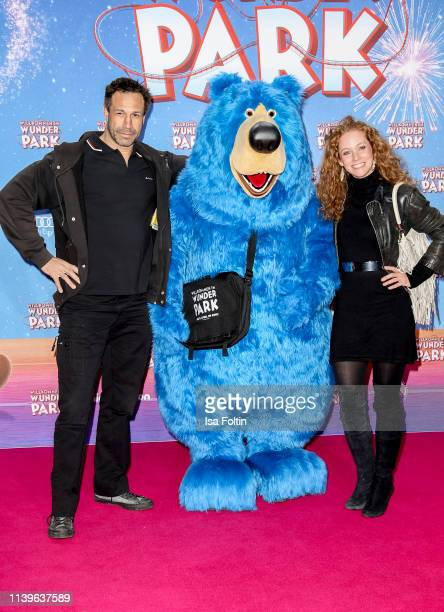 US musician Evil Jared Hasselhoff and his wife Sina Valeska Jung attend the Willkommen im Wunder Park premiere at Kino in der Kulturbrauerei on March...
