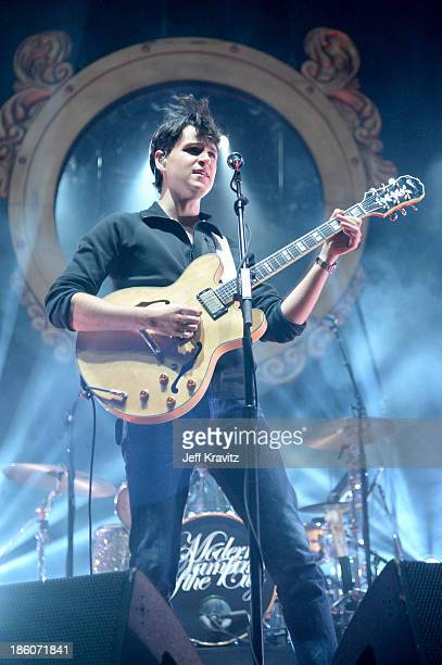 Musician Ezra Koenig of Vampire Weekend performs onstage during day 2 of the Life is Beautiful festival on October 27 2013 in Las Vegas Nevada