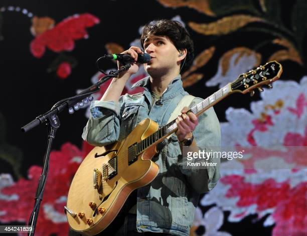Musician Ezra Koenig of Vampire Weekend performs onstage during The 24th Annual KROQ Almost Acoustic Christmas at The Shrine Auditorium on December 7...