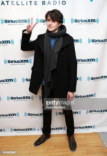 Musician Ezra Koenig of Vampire Weekend visits at SiriusXM Studios on March 29 2013 in New York City