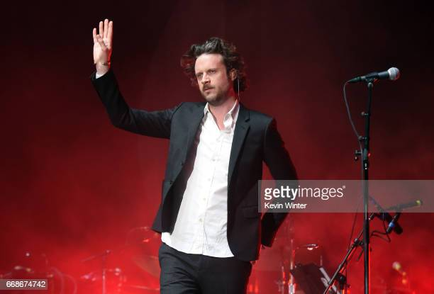 Musician Father John Misty performs on the Coachella Stage during day 1 of the Coachella Valley Music And Arts Festival at the Empire Polo Club on...