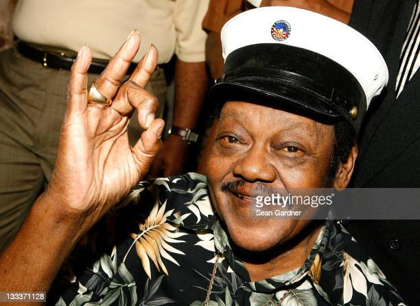 Musician Fats Domino attends the Tipitina's Foundation premiere of 'Fats Domino Walkin' Back to New Orleans' at Tipitina's Uptown on November 5 2008...