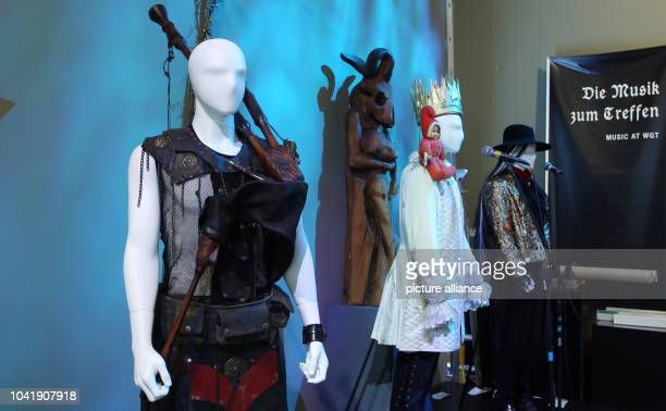 Musician figures can be seen in the exhibition 'Dark Leipzig 25 Years of WaveGotikTreffen' in LeipzigGermany 07 March 2016 From 09 March to 29 May...