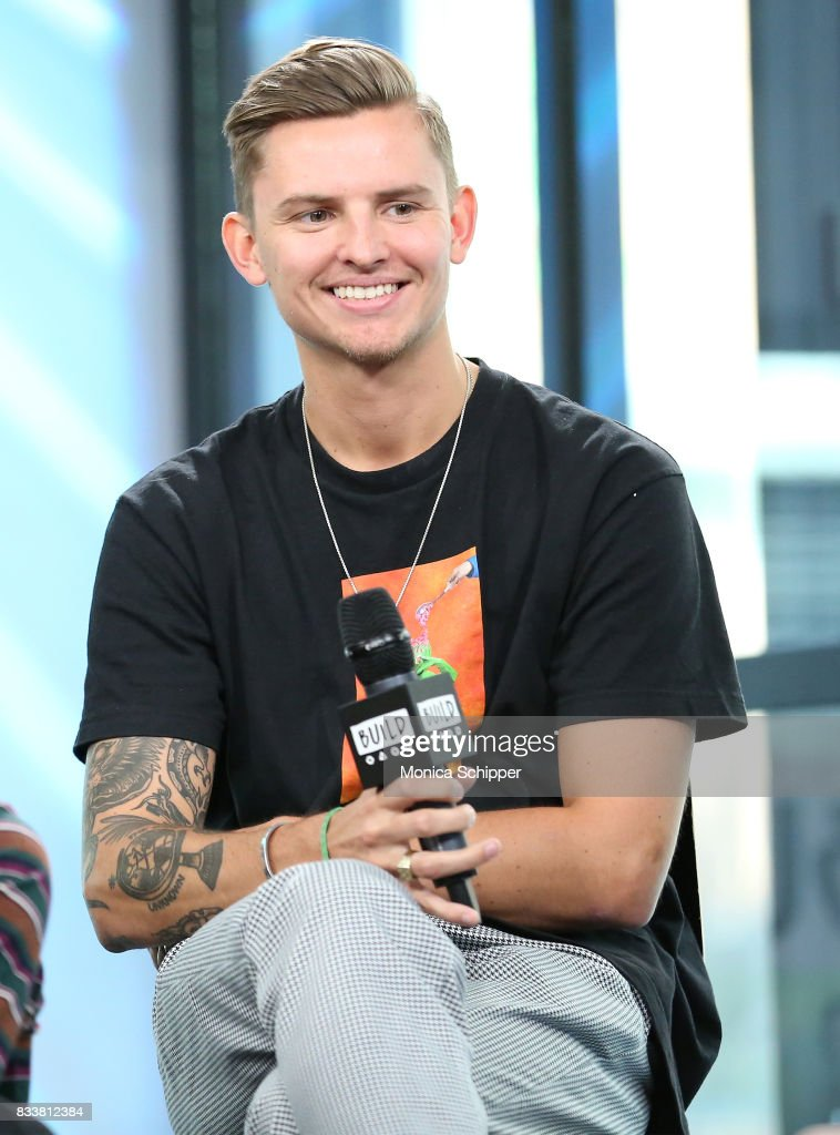 Musician Fil Thorpe-Evans from the pop punk band Neck Deep discusses their album 'The Peace and The Panic' at Build Studio on August 17, 2017 in New York City.
