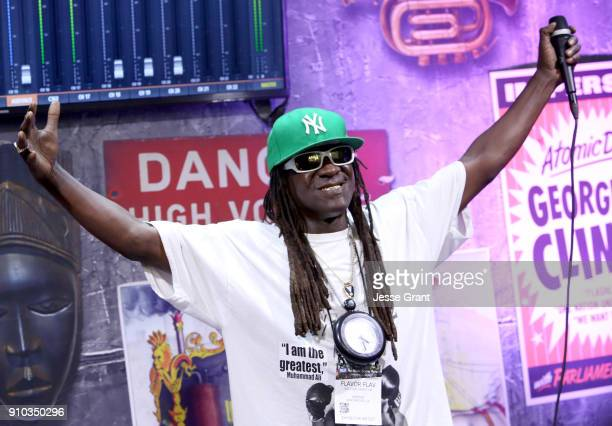 Musician Flavor Flav at NAMM Show 2018 at the Anaheim Convention Center on January 25 2018 in Anaheim California