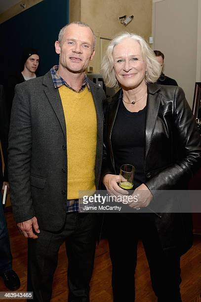 Musician Flea and actress Glenn Close attend the GREY GOOSE Blue Door Hosts Low Down Party on January 19 2014 in Park City Utah
