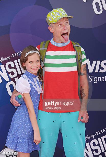 Musician Flea and daughter Sunny Bebop Balzary arrive at the Los Angeles premiere of Disney/Pixar's 'Inside Out' at the El Capitan Theatre on June 8...