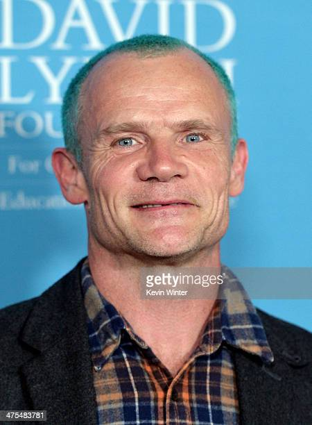 Musician Flea arrives at the David Lynch Foundation Gala Honoring Rick Rubin at the Beverly Wilshire Hotel on February 27, 2014 in Beverly Hills,...