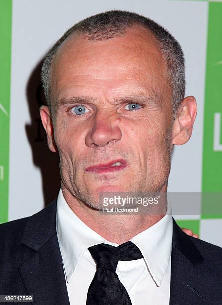 Musician Flea arriving at Liberty Hill Foundation's Annual Upton Sinclair Dinner at The Beverly Hilton Hotel on April 22 2014 in Beverly Hills...