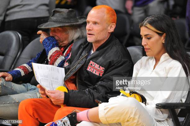 Musician Flea attends a basketball game between the Los Angeles Lakers and the Golden State Warriors at Staples Center on January 21 2019 in Los...