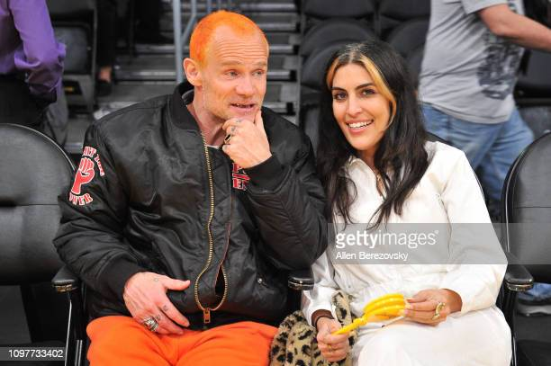 Musician Flea attends a basketball game between the Los Angeles Lakers and the Golden State Warriors at Staples Center on January 21, 2019 in Los...