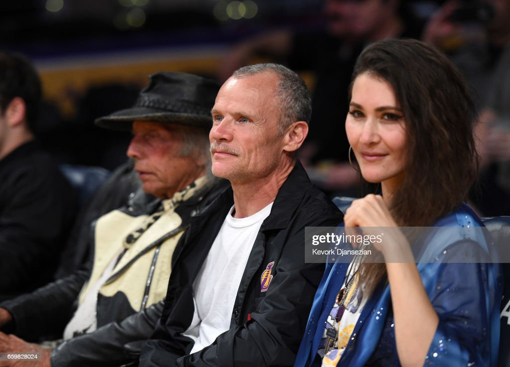 Musician Flea attends the Washington Wizards and Los Angeles Lakers basketball game at Staples Center March 28 2017, in Los Angeles, California.