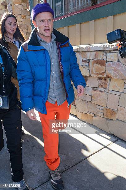 Musician Flea leaves the Los Angeles Times portrait studio on January 20 2014 in Park City Utah